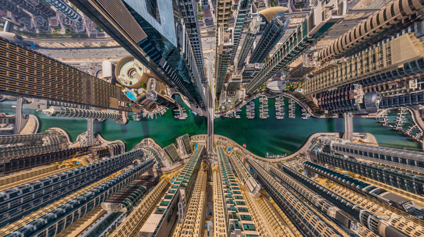 Aerial image of Dubai, UAE